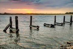 Louisiana Sunrise. A scene from Bayou Lafourche, Louisiana royalty free stock photo