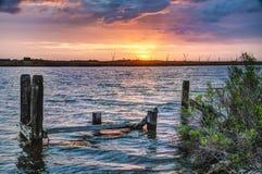 Louisiana Sunrise. A scene from Bayou Lafourche, Louisiana royalty free stock photography
