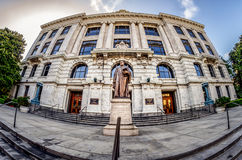 Louisiana Supreme Court Building Front Fisheye View New Orleans. 6-30-14 New Orleans - Taken with a fisheye lens of the Front Entrance of the Lousiana Supreme royalty free stock photography