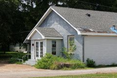Louisiana verließ Kirche lizenzfreie stockbilder