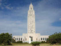 Louisisana Capital Huey Long Statue Stock Photo
