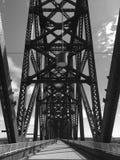 Louisville 2 Black and White. Converted rail bridge stock image