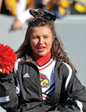 Louisville Cardinals cheerleader Royalty Free Stock Image