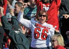 Louisville Cardinals fan celebrates Stock Image
