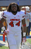 Louisville Cardinals football team takes the field Stock Images