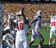 Louisville Cardinals football team takes the field Royalty Free Stock Image