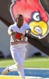 Louisville Cardinals male cheerleader Royalty Free Stock Photos