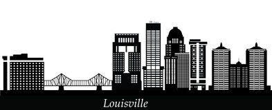 Louisville detail skyline with bridge Royalty Free Stock Photo
