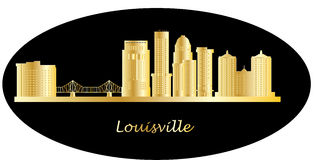 Louisville detail skyline with bridge Stock Photos