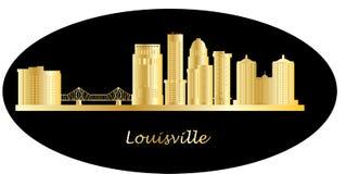 Louisville detail skyline with bridge. Sunset or sunrise Stock Photos