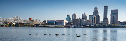 Louisville, Kentucky City Skyline royalty free stock image