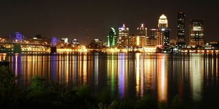 Louisville kentucky cityscape Stock Image