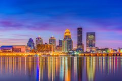 Louisville, Kentucky, orizzonte di U.S.A. immagini stock