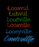 Louisville Kentucky pronunciations Stock Photography