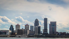 Louisville Kentucky Skyline. Skyline of downtown Lousiville across the Ohio River stock images