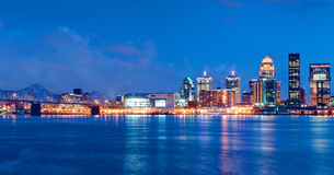 Louisville, Kentucky Skyline at Night Stock Photo