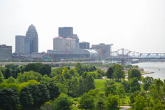Louisville, Kentucky Skyline During the Springtime Royalty Free Stock Image