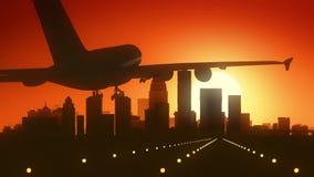 Louisville Kentucky usa Ameryka linii horyzontu wschodu słońca lądowanie zdjęcie royalty free