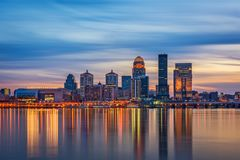 Louisville, Kentucky, USA. Skyline on the river royalty free stock photography