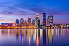 Louisville, Kentucky, USA. Skyline on the river royalty free stock photos