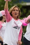 The Pegasus Parade 2018. Louisville, Kentucky, USA - May 03, 2018: The Pegasus Parade, Members of Ride to Ride Out Breast Cancer, promoting cancer awareness stock images