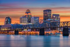 Louisville, Kentucky, USA. Skyline on the river royalty free stock image