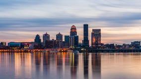 Louisville, Kentucky, USA. Skyline on the river stock video footage
