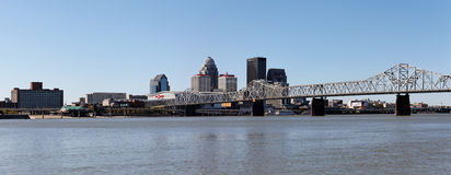 Louisville. KY, USA – October 2, 2011: A panoramic view of the riverfront area located in . Located next to the Ohio River,  is the 28th most populous city Royalty Free Stock Photography