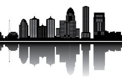 Louisville skyline stock illustration