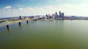 Louisville skyline stock video