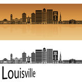Louisville-Skyline in der Orange Stockbilder