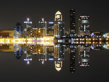 Downtown Louisville Kentucky Skyline Reflection stock images