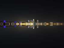 Louisville Skyline Reflection Royalty Free Stock Photos