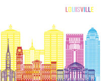 Louisville V2 skyline pop Royalty Free Stock Photo