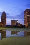 Louisville van de binnenstad royalty-vrije stock afbeeldingen