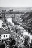 Louka monastery and railway bridge, Znojmo Stock Photo