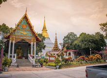 Loukatong. Last year in temple Royalty Free Stock Images