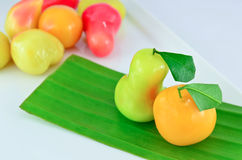 Loukchub Thai dessert Royalty Free Stock Photography