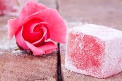 Loukoum com sabor cor-de-rosa Foto de Stock Royalty Free