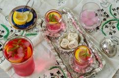 Loukoum e sorvete tradicional turco de ramadan do otomano fotografia de stock
