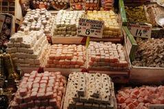 Loukoum ou lokum em sabores diferentes imagens de stock