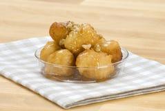 Loukoumades(yeast fried balls) Stock Photos