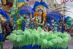 LOULE, PORTOGALLO - FEBBRAIO 2018: Parata variopinta di carnevale (Carnaval) Fotografia Stock Libera da Diritti