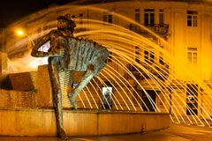 LOULE, PORTUGAL - CIRCA MAY 2018: Famous roundabout built in the Stock Images