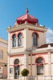LOULE, PORTUGAL - CIRCA MEI 2018: Markethall in de oude stad Royalty-vrije Stock Afbeeldingen