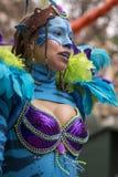 LOULE, PORTUGAL - FEB 2017: Colorful Carnival (Carnaval) Parade Stock Photo