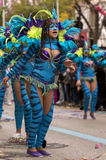 LOULE, PORTUGAL - FEB 2017: Colorful Carnival (Carnaval) Parade Stock Photography
