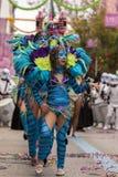LOULE, PORTUGAL - FEB 2017: Colorful Carnival (Carnaval) Parade Royalty Free Stock Image