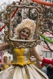 LOULE, PORTUGAL - FEB 2017: Colorful Carnival (Carnaval) Parade Stock Image