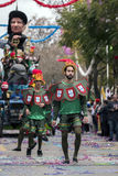 LOULE, PORTUGAL - FEB 2017: Colorful Carnival (Carnaval) Parade Royalty Free Stock Photos